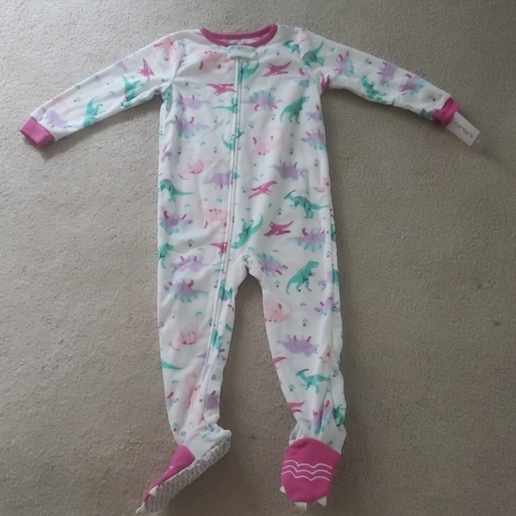 NWT Carters Toddler Girls Footed Fleece Pajamas Sleeper Size 4T
